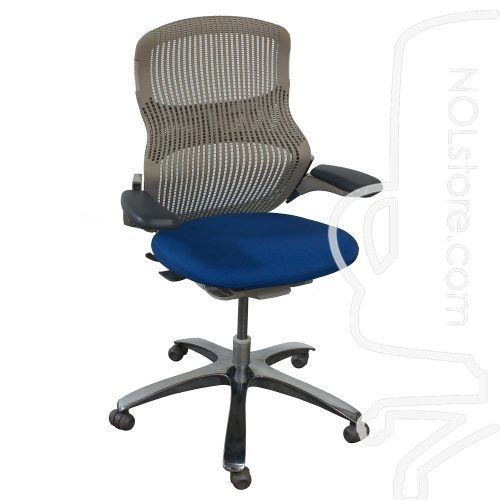Knoll Generation Used Task Chair Electric Blue National Office Interiors And Liquidators In 2020 Task Chair Fabric Seat Electric Blue