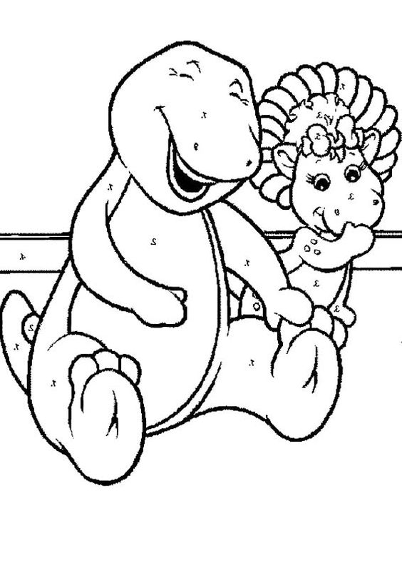 Barney Merrily Laughing Coloring Page | coloring pages | Pinterest ...