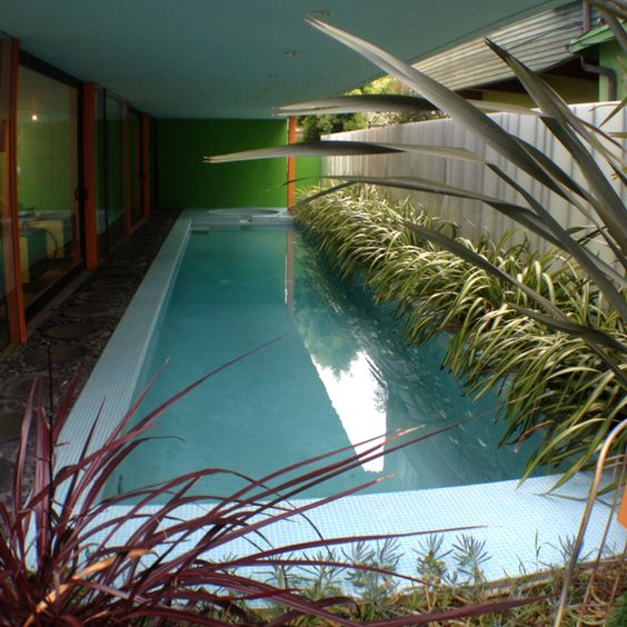Architect Glenn Irani's house in the Venice Canals: lap pool