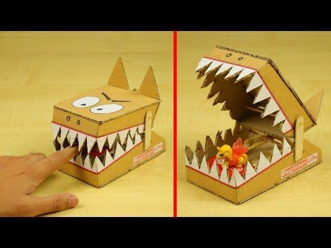 How To Make Mouse Trap At Home Diy Simple Rat Trap From Cardboard Mouse Traps Felt Toys Diy Kids Mouse