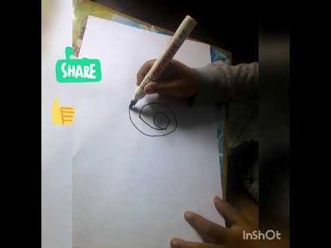 Pin Di Cara Mudah Menggambar Siput Dari Angka 6