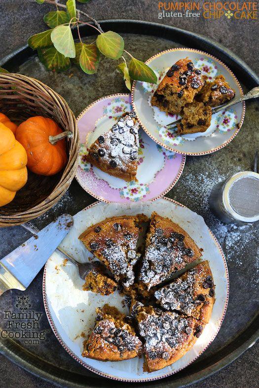 Gluten Free Pumpkin Chocolate Chip Cake