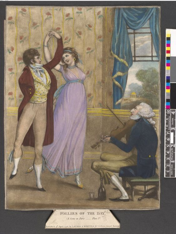 Follies of the Day - a Scene in Paris 1798  British Museum acc number 2010,7081.1069: