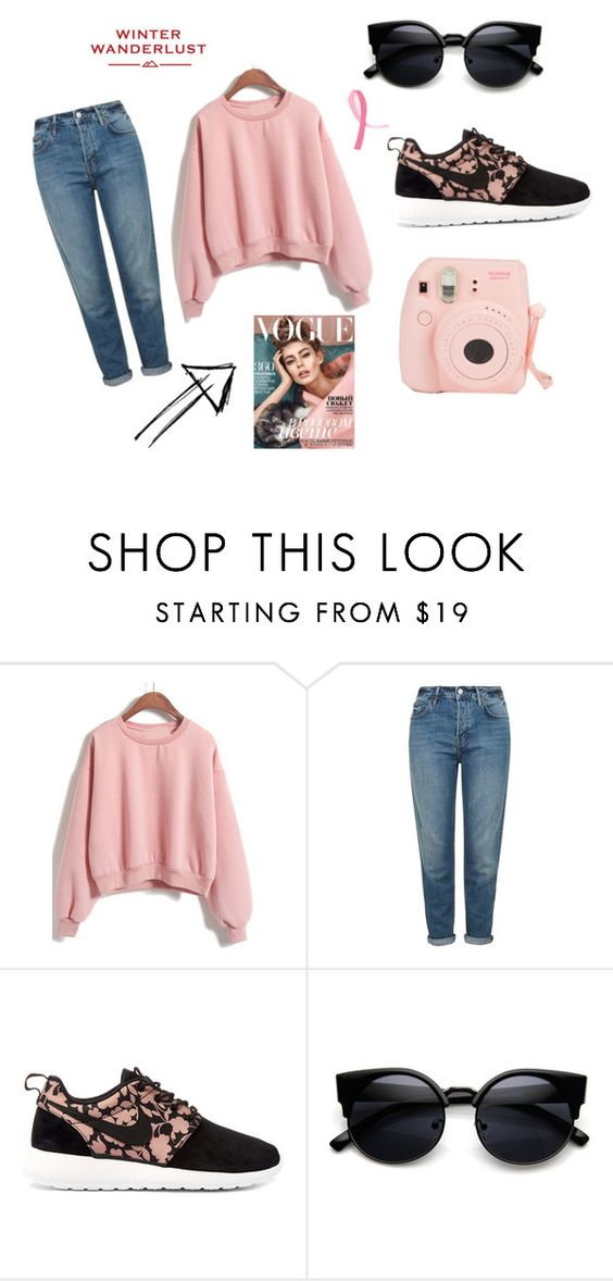 """Sin título #31"" by irennefsh ❤ liked on Polyvore featuring Topshop, NIKE and American Eagle Outfitters"