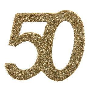 confettis anniversaire 50 ans or paillet les 6 chic and. Black Bedroom Furniture Sets. Home Design Ideas