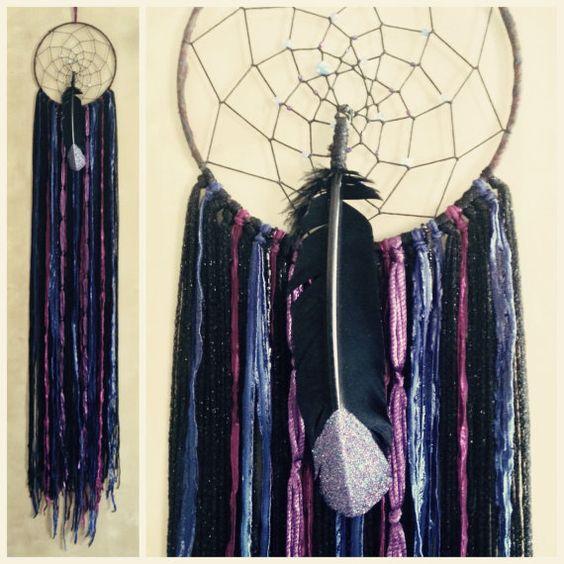 New Moon Raven Spirit Dreamcatcher by kmichel on Etsy