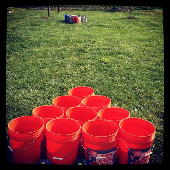 Our version of Giant Beer Pong... We call ours Beer Bucket!