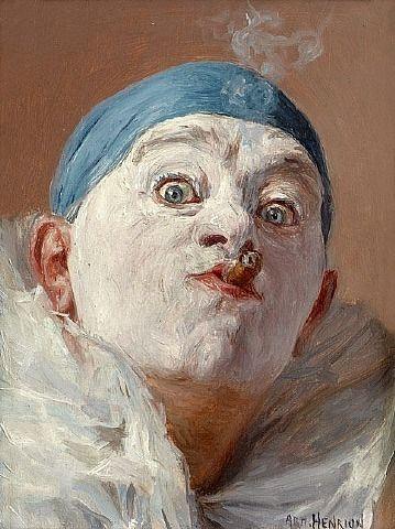 Ηenrion Αrmand~self as clown w cigar
