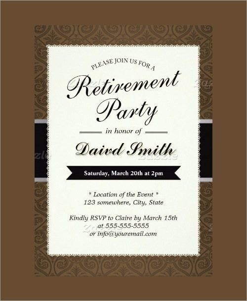 32 Retirement Party Invitation Templates Free Psd Vector Downloads Party Invite Template Retirement Party Invitations Party Invitations