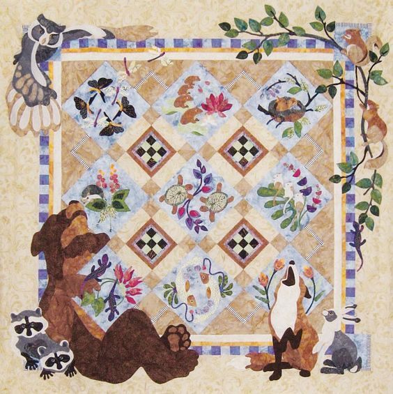 Forest Galorest Block of the Month - Texas Quilt Shop, Block of the Month, Patchwork Party ...