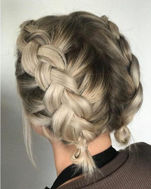 15 Einfachste Und Susseste Zopfe Fur Kurze Haar Trendfrisurende Com Zopf Kurze Haare Kurze Haare Zopfe Frisur Ideen