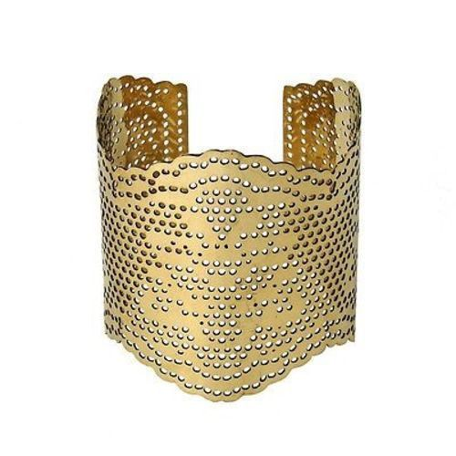 WorldFinds Lacey Brass Cutout Cuff