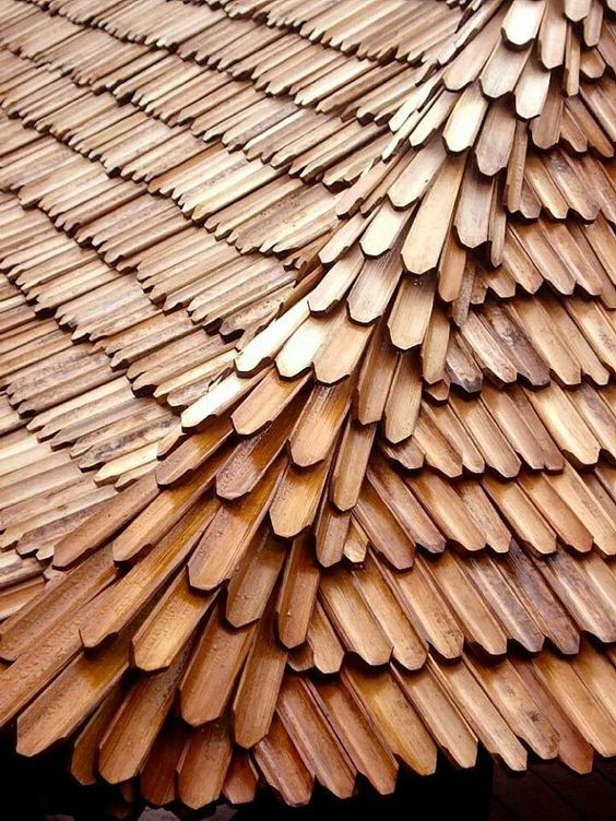 This bamboo roof is too cool.  It is trendy, modern, and unique.#architecture #roofing #Modern: