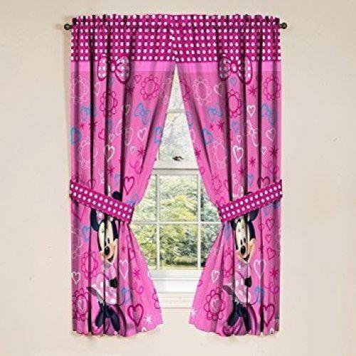 Details about Disney Minnie Mouse Window Panels Curtains Drapes ...