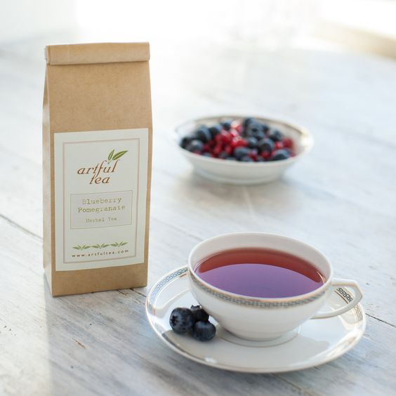 Blueberry Pomegranate Herbal Tea by ArtfulTea