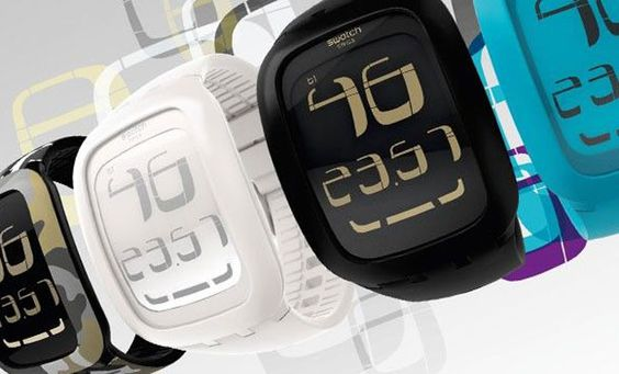 £100 Swatch introduces unreadable touch sensitive watches. iWatch smiling in the wings while Apple's lawyers sharpen their pencils?