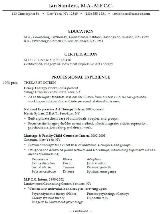 Licensed Psychologist Sample Resume Sample Statements Samplestatement On Pinterest