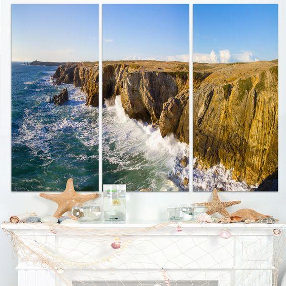 Cote Sauvage Bretagne France - Seascape Art Print