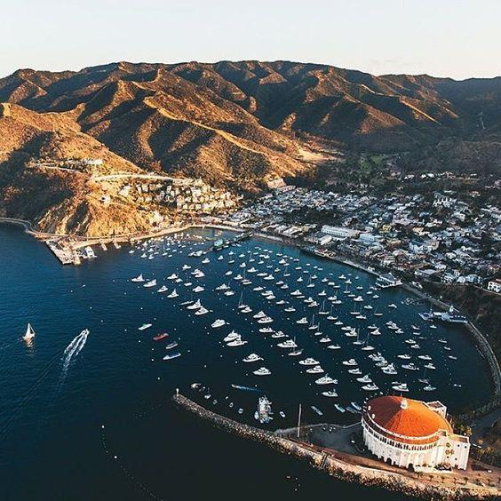 By @kdkuiper ・・・ Avalon, Catalina Island #droneheroes #dji #dronefly #drone #avalon #islandlife #aerialphotography