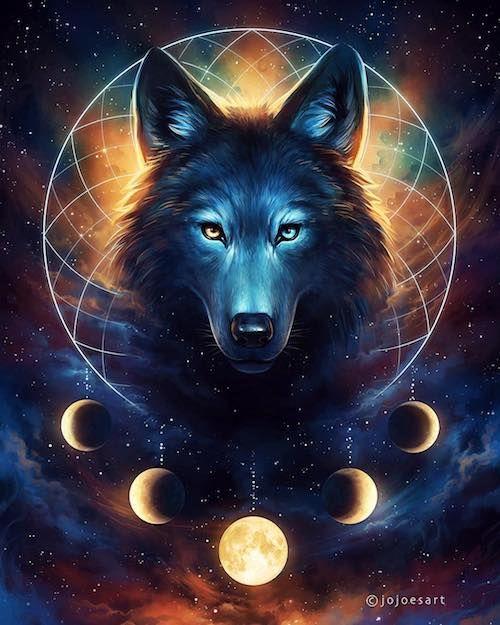 Схема вышивки «сказочные волки» - Вышивка крестом | 625x500