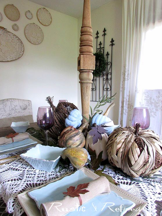 Modern and Rustic Fall Tablescape for 2016