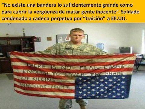 una bandera no cubre el asesinato de gente inocente