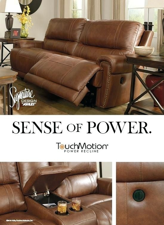Ashley Furniture Leather Reclining Sofa Leather Reclining Sofa