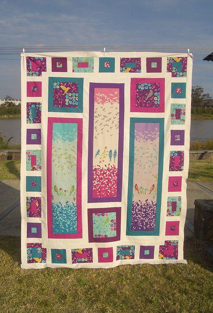 Beautiful quilt using my favourite fabric, Echino.