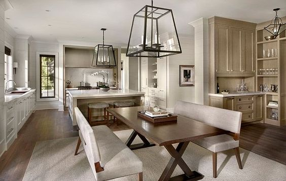 Kitchen, breakfast room and butler's bar by O'Brien Harris - Fine fitted furniture. Chicago, IL.