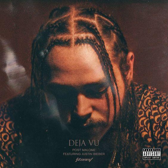 Post Malone, Justin Bieber – Deja Vu (single cover art)