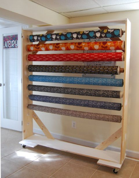 Diy Fabric Bolt Storage Rack 2 1 Jpg 480 215 614 Working