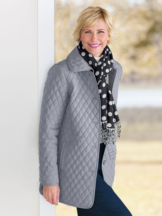 The Diamond-Quilted Car Coat and other Womens Outerwear. | TOG ...