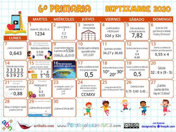 Calendario Sexto ABN – Septiembre 2020
