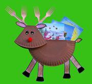 Paper plate reindeer.
