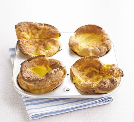 The perfect vehicle for gravy and roasted goodies: the Yorkshire pudding - this version is gluten-free but never fear, you still get that characteristic puff and golden colour
