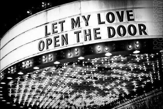 let my love open the door- love this song....