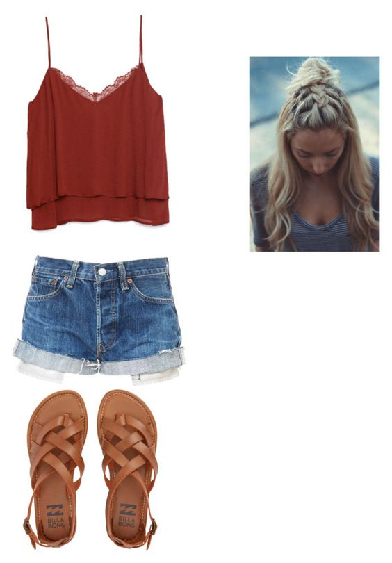 """Untitled #26"" by h-cherry on Polyvore featuring Zara and Billabong"