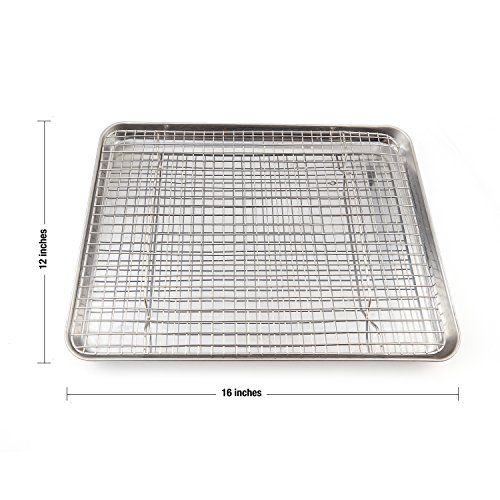 Stainless Steel Baking Sheet Cooling Rack With Silicone Baking