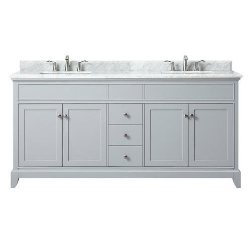 Aurora 73 In Vanity With Carrara Marble Top Double Sink Vanity Marble Vanity Tops Double Sink Bathroom Vanity
