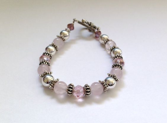 PALE PINK Pearl Natural Stone  Vintage Style by SugapieJewelry, $15.99