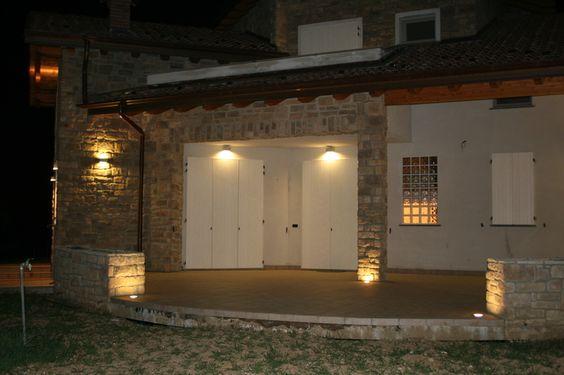 lingresso di un abitazione illuminato da luci led  Illuminazione Led Pe...
