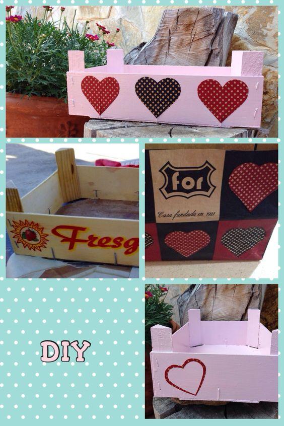 Caja fresas de madera decorada cajas de fresas pinterest - Cajas de madera decoradas ...