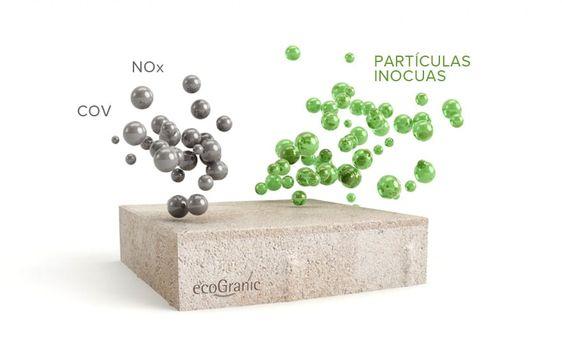 Ecogranic, el pavimento ecológico capaz de limpiar el aire de las ciudades.
