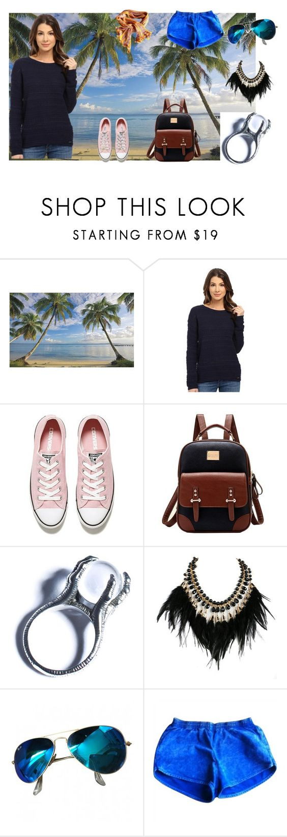 """s"" by utitito on Polyvore featuring Universal Lighting and Decor, U.S. Polo Assn., Converse, Kill Star, WithChic, Ray-Ban, American Apparel and Missoni"