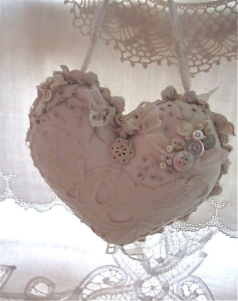 Shabby Chic Heart Pillows : Shabby chic, Shabby chic pillows and Shabby on Pinterest