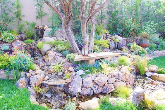 Custom waterfall and pond