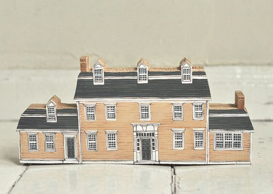 Give them a custom portrait of home with a made-to-order miniature hand-painted house.