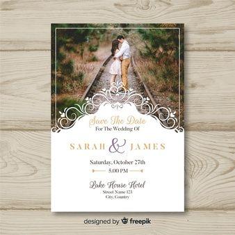 Wedding Invitation Card With Photo Convites De Casamento Com Foto Convite De Casamento Cartao De Casamento