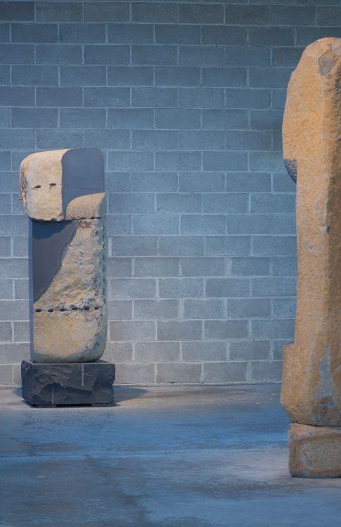 Basalt Stone Sculpture : Basalt stone sculptures at the noguchi museum