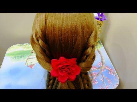 تسريحة شعر سهله وجميلة للبنات الصغار والكبار للمدرسة للمناسبات Easy Hairstyels For Girl Youtube Youtube